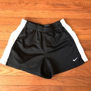Women's Nike Athletic Shorts Black White Medium